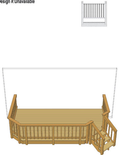16 X 10 Attached Deck With Angled Corner Stairs And Aluminum Spindles Material List At Menards