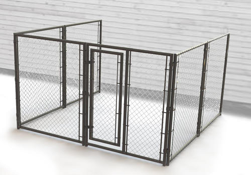 6\' x 10\' x 10\' 3-Sided Powder-Coated Kennel at Menards®