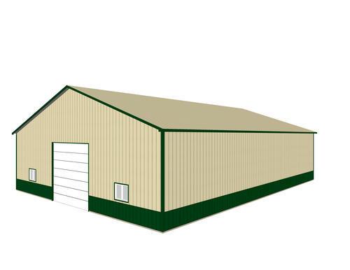 60\'W x 80\'L x 16\'H Workshop Post Frame Building at Menards®