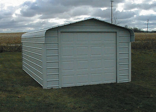 VersaTube® 12'W x 18'L x 7'H Fully Enclosed Steel Shelter ...