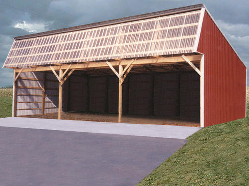 24w x 54l x 12h loafing shed at menards