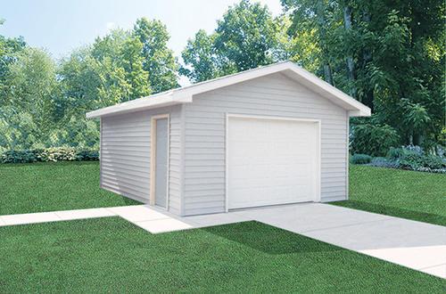 16\'W x 24\'L x 8\'H Garage Post Frame Building at Menards®