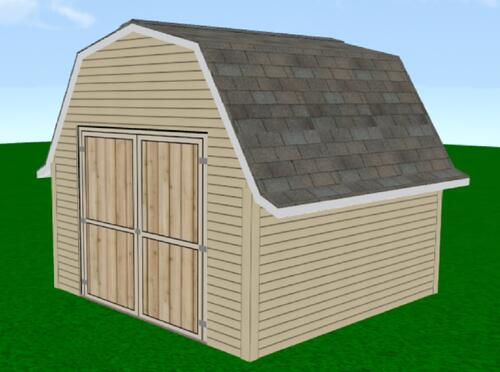 midwest manufacturing e z build 12w x 20d gambrel shed at menards