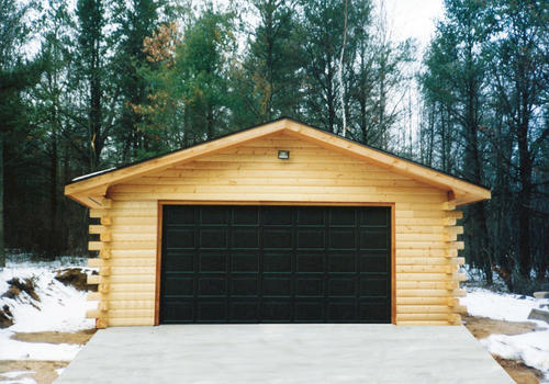 24 X 24 X 8 2 Car Garage Log Siding At Menards
