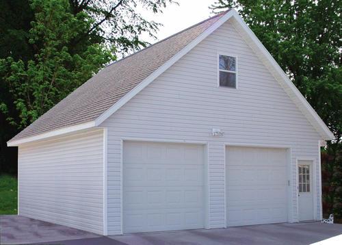 26 x 28 x 9 2 car garage room in attic at menards - Menards Garage