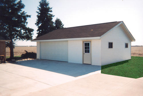 26 x 30 x 8 2Car GarageWorkshop at Menards – 2 Car Garage Plans With Workshop