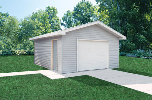16 x 24 x 8 1 car garage at menards - Menards Garage