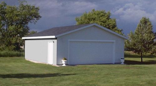 24 x 26 x 8 2Car Garage at Menards – 24 X 26 Garage Plans