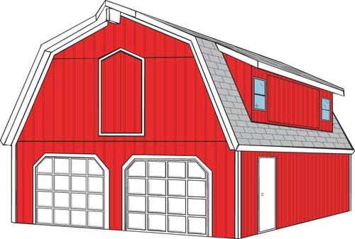 Gambrel garage kit ppi blog for Gambrel roof metal building