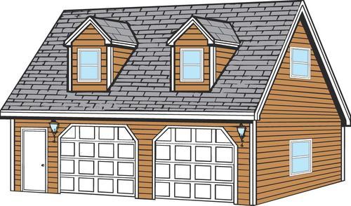 24 x 28 x 8 2Car Garage at Menards – 24X28 Garage Plans