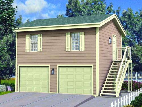 24\' x 24\' x 8\' 2-Car Garage-Apartment at Menards®