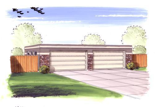 26u0027 X 40u0027 X 9u0027 4 Car Garage Flat Roof At Menards®