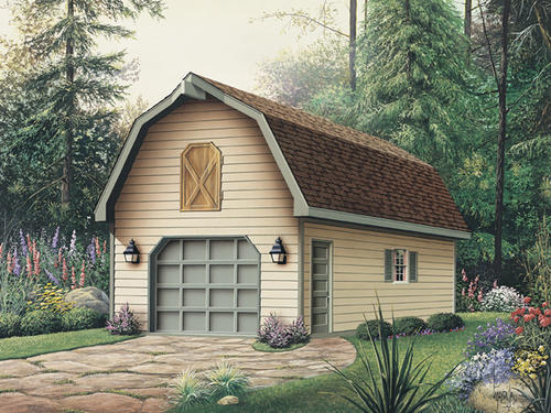 16' x 24' x 8' 1-Car Garage-Gambrel Roof Material List at Menards®