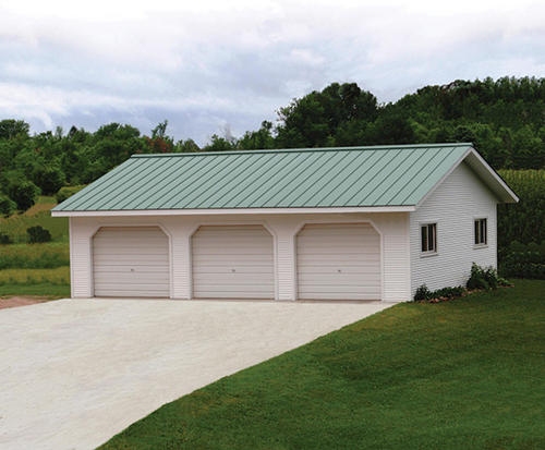 20' x 34' x 8' 3-Car Garage at Menards®  Car Garage Plans With Pole Barn Homes on patio home with 3 car garage, pole barn home with front porch, pole barn home with loft, pole barn home with basement,