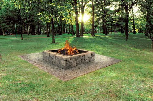 Rustic Fire Pit Project Material List 4 2 3 4 W X 1 2 H At Menards