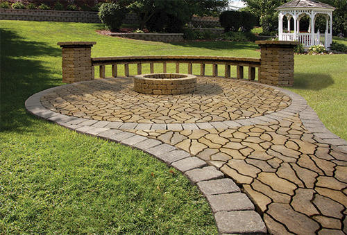 Flagstone Patio With Fire Ring Project