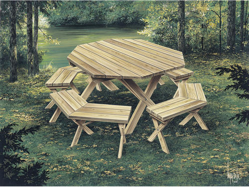 4 8 octagon picnic table project at menards watchthetrailerfo