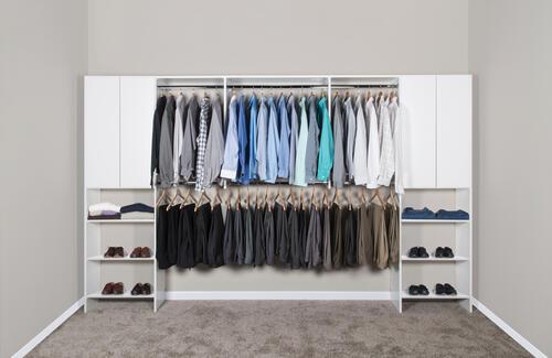 Dakota Closets 136 W X 86 1 2 H White Wooden Closet System At Menards