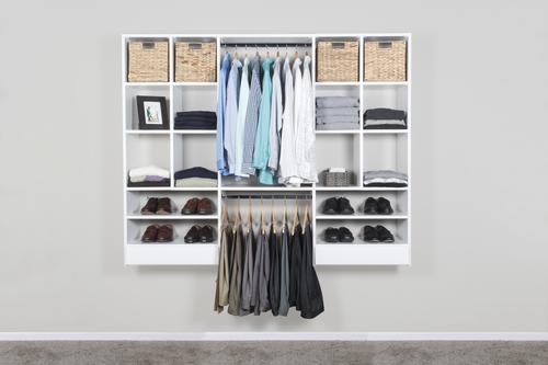 Dakota Closets 75 Quot W X 61 Quot H White Wooden Closet System