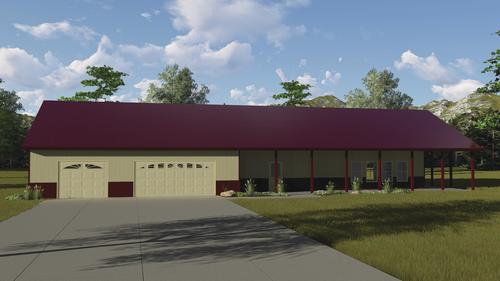 29668 - Northwood - Post Frame Home at Menards® on