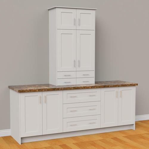 White Kitchen Cabinets At Menards: KLËARVŪE Cabinetry® Large Vanity