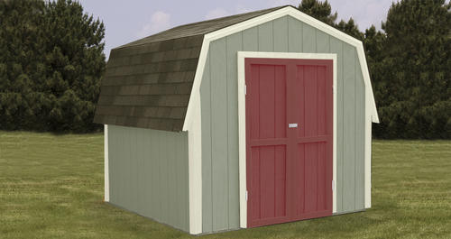 Midwest Manufacturing 174 Ez Build 8 W X 8 D Gambrel Shed