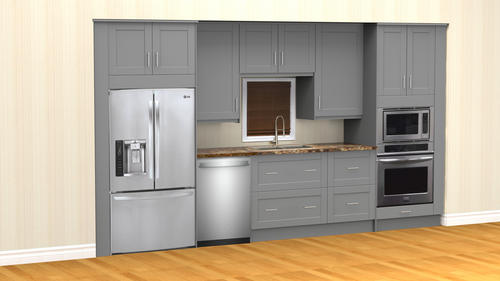 Klëarvūe Cabinetry Built In Galley With Wall Oven Cabinets Only At Menards