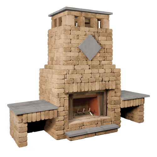 Bradford Fireplace With Double Wood Box Project Material List 8 5 X 10 7 4 1 At Menards