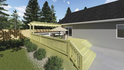 5/4 x 6 Above Ground AC2® Green Pressure Treated Thick Deck