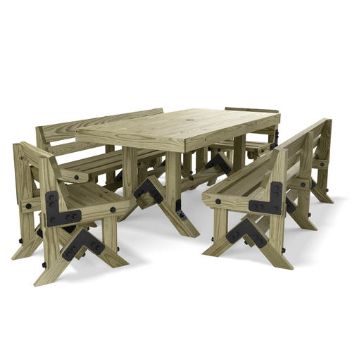 Ozco 3 4 x 6 picnic table project 801 at menards watchthetrailerfo
