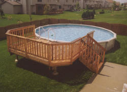 10' x 14' Leisure Pool Deck for a 24' Pool Material List
