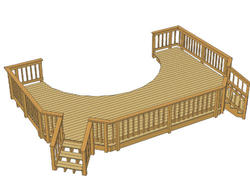 24 X 16 Freestanding Pool Deck With Two Stairs At Menards 174