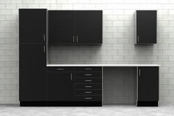 KlËarvŪe Cabinetry Garage Diamondplate Cabinets Only