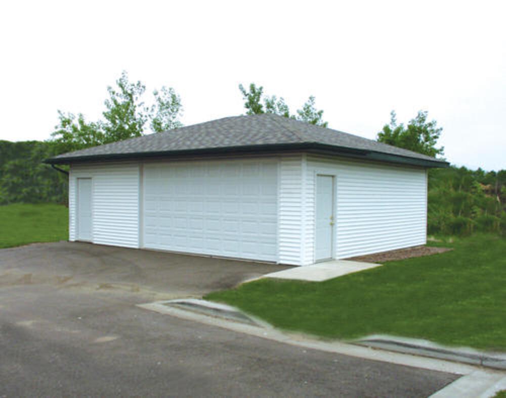 2 Car Hip Roof Garage 24 X 30 X 9 Material List At Menards