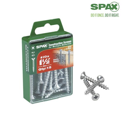 Spax 10 Combo Drive Zinc Flat Head Construction Screws At Menards