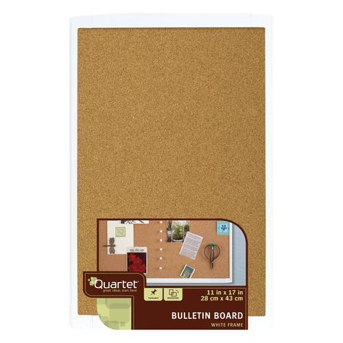 Quartet Cork Bulletin Board 11 X 17 White Frame At Menards