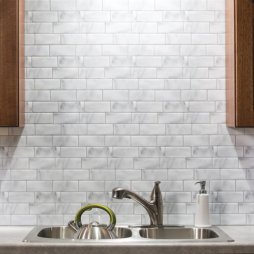 Tack Tile Peel Stick Vinyl Backsplash At Menards