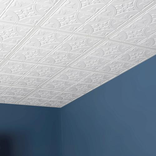 Genesis™ Designer 40' X 40' PVC Antique LayIn Ceiling Tile At Menards Gorgeous Decorative Ceiling Tiles Menards