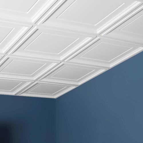 Genesis™ Designer 2' X 2' PVC Icon Coffer Lay-In Ceiling