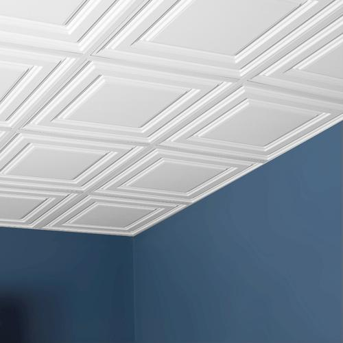 Genesis Designer 2 X Pvc Icon Relief Lay In Ceiling Tile