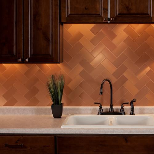 Brilliant Aspect 3 X 6 Peel And Stick Metal Tile Backsplash In Beutiful Home Inspiration Truamahrainfo