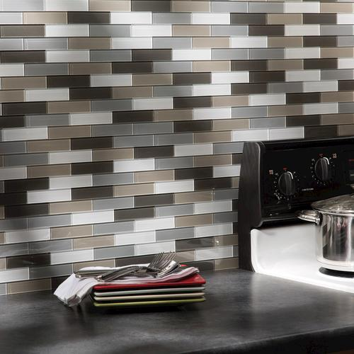 Aspect 12 5 X 4 Peel And Stick Glass Matted Subway Backsplash Tile In Rustic Clay At Menards