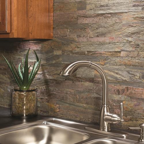 L And Stick Stone Tile Backsplash