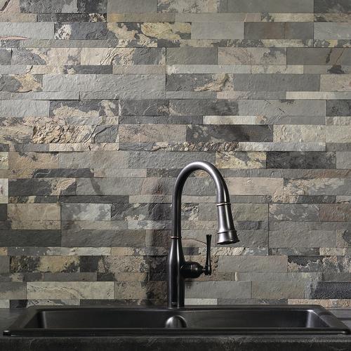 Aspect 5 9 X 23 6 Peel Stick Stone Backsplash Tiles At Menards
