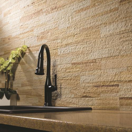 Aspect 5 9 X 23 6 L And Stick Stone Tile Backsplash In Golden Sandstone