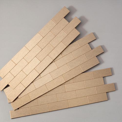 Aspect 12 5 X 4 Peel Stick Metal Matted Subway Backsplash Tiles 3 Pk At Menards