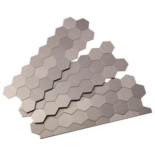 11 x 4 peel stick metal matted