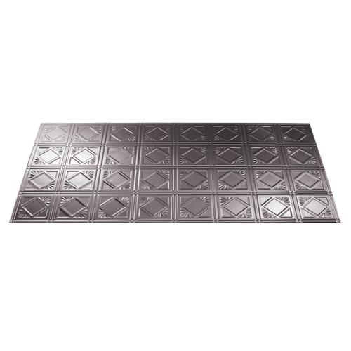 Fasade® Traditional 4 - 2' x 4' PVC Glue-Up Ceiling Tile
