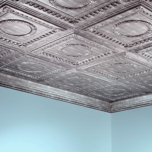 Fasade Rosette 2 X 4 Pvc Glue Up Ceiling Tile At Menards