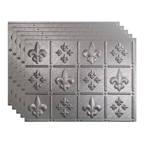 Fasade Fleur De Lis 18 X 24 Vinyl Backsplash Tile 5 Pk At Menards
